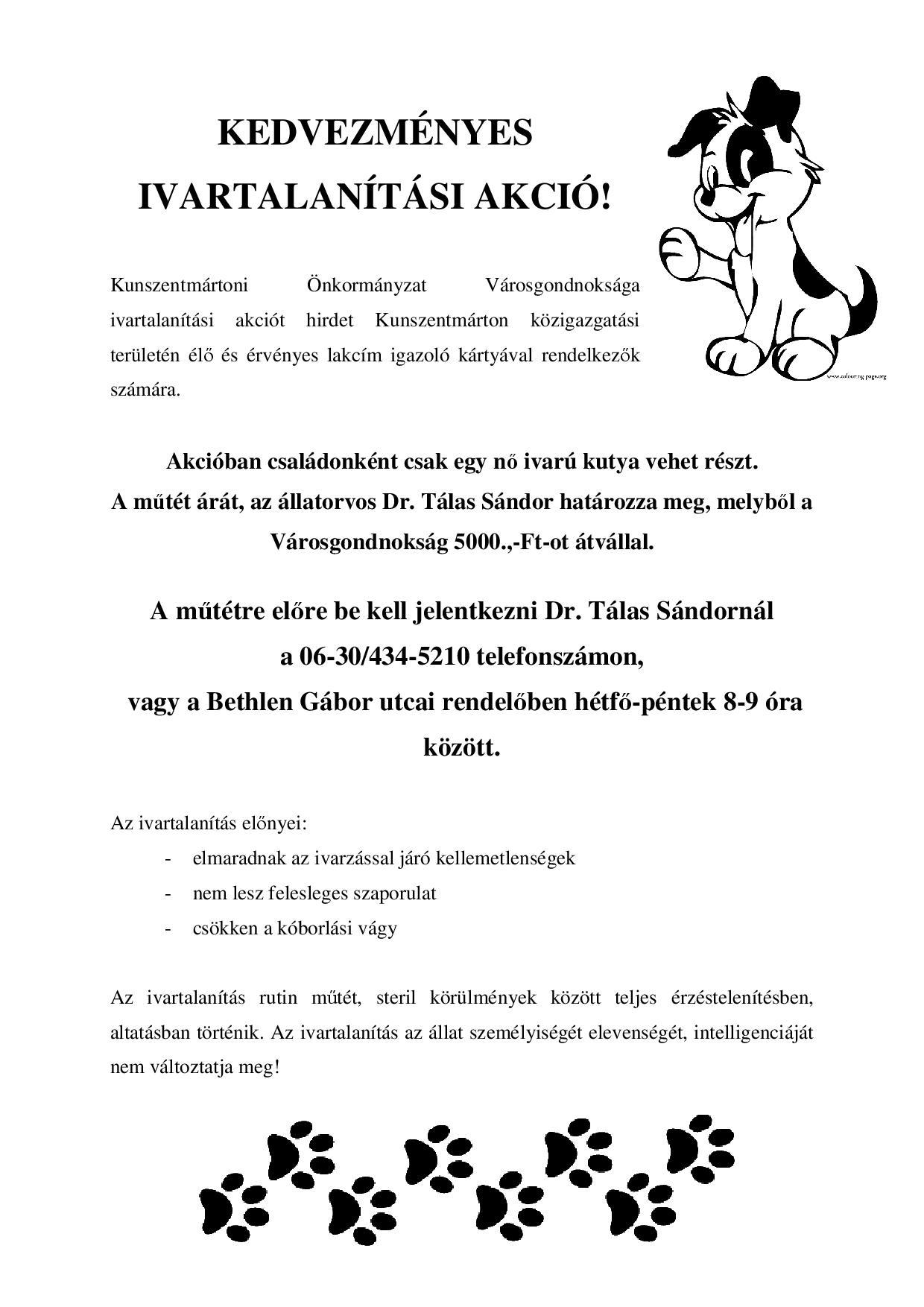 Ivartalanítási akció - kedvezmenyes_plakat-001