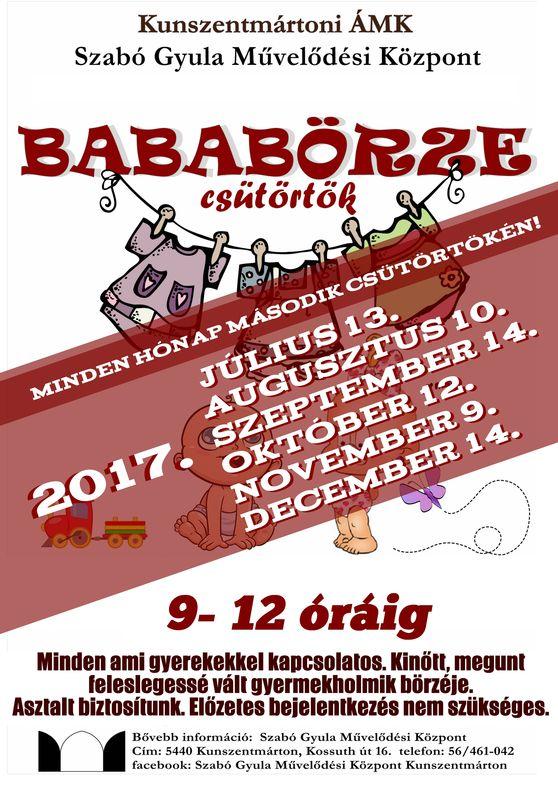 Babaklub II. félév időpontok