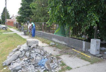 Epreskerti óvoda- kerítés felújítása
