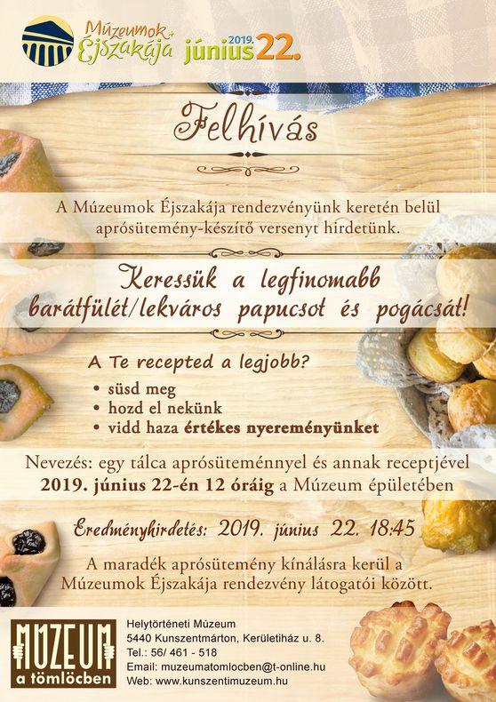 Múzeumok éjszakája_aprósüti verseny_plakát