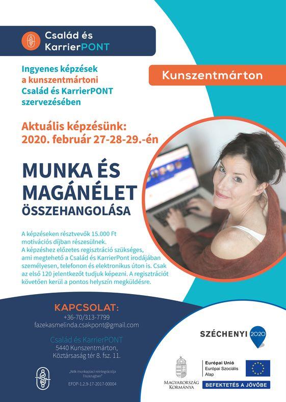 Februári képzés plakátja